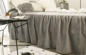 Velvet Fleece Bed Skirt