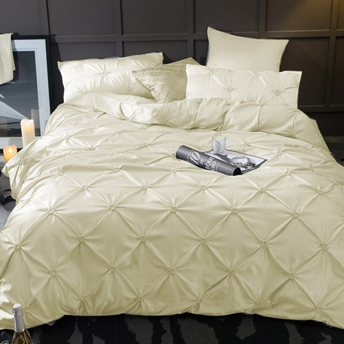 Washed Silk Bedding Set 4pcs - Cream
