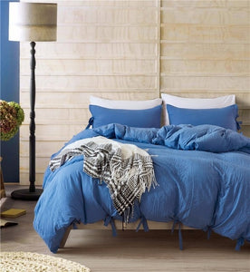 Bowknot Bedding Set - Blue