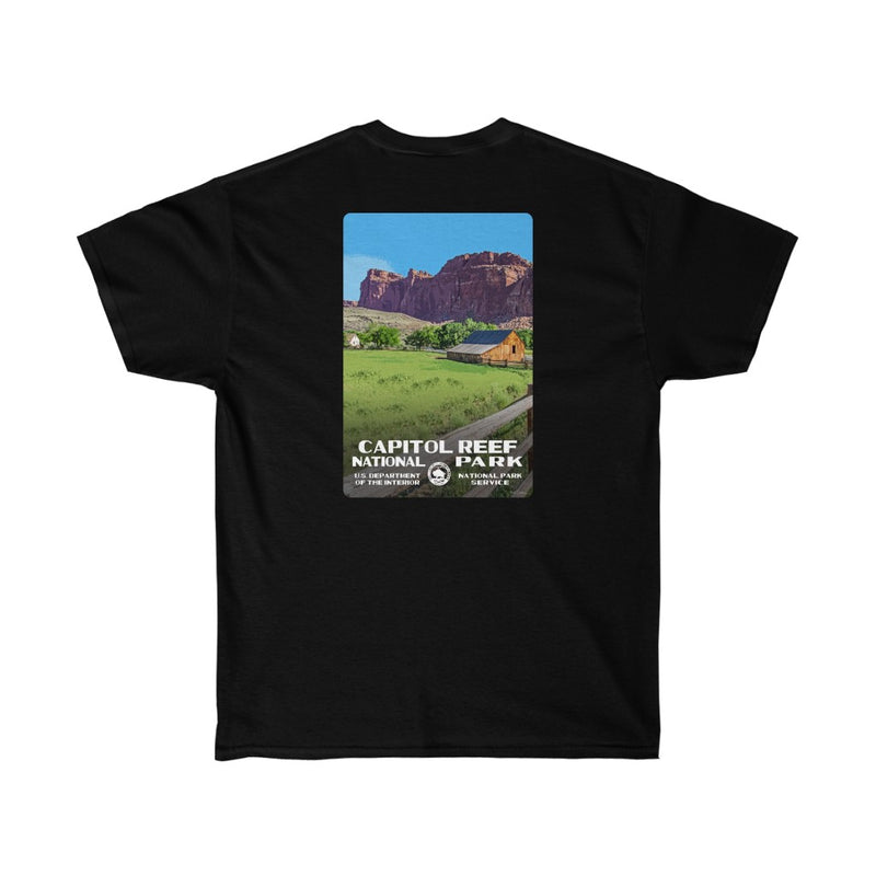 Capitol Reef National Park Men's T-Shirt (front & back)