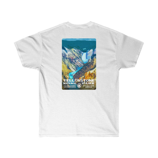 Yellowstone National Park (Lower Falls) Men's T-Shirt (front & back)