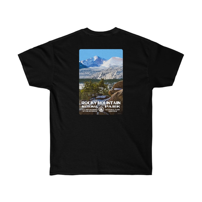 Rocky Mountain National Park (Longs Peak) Men's T-Shirt (front & back)