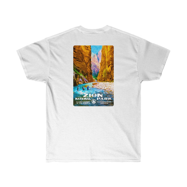 Zion National Park (The Narrows) Men's T-Shirt (front & back)