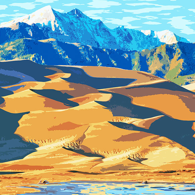 Great Sand Dunes National Park Neck Gaiter
