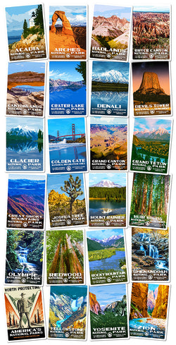 National Park Sticker Collection