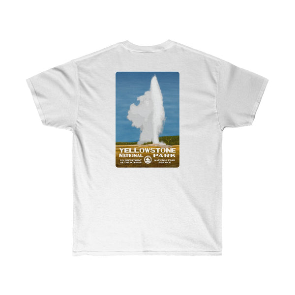 Yellowstone National Park (Old Faithful) Men's T-Shirt (front & back)