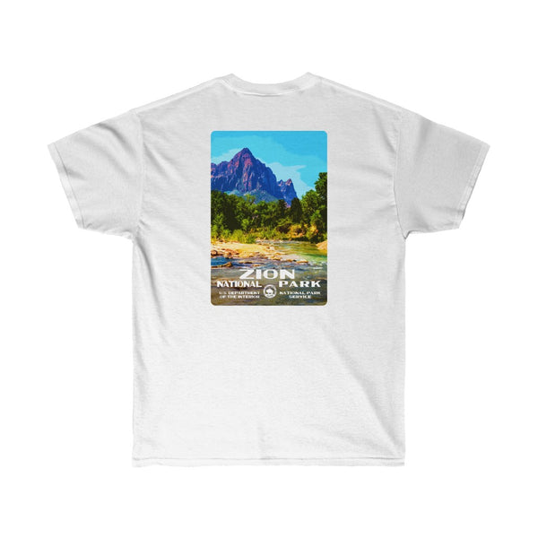 Zion National Park (The Watchman) Men's T-Shirt (front & back)