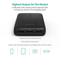 Portable Charger 22000mAh Battery Pack with 5.8A Output