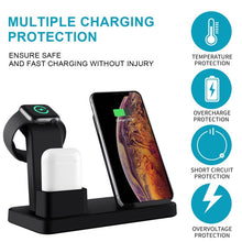 Load image into Gallery viewer, New 3 In 1 Wireless Charging Station Compatible With Apple Watch Series 4/3/2/1 & AirPods 10W Qi Fast Wireless Charger Stand