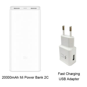 Xiaomi Mi Power Bank 2C 20000mAh Quick Charge External Battery Powerbank Micro USB  Portable Bateria External Portable Charger