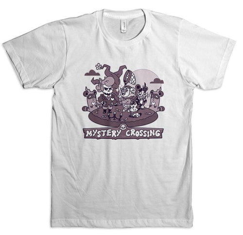 Mystery Crossing White Tee