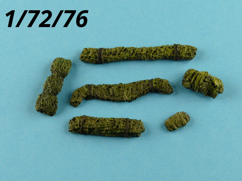 1:72/76 Camouflage Nets in Rolls Military Scale Model Vehicle Tank Stowage Kit 6 - redoguk