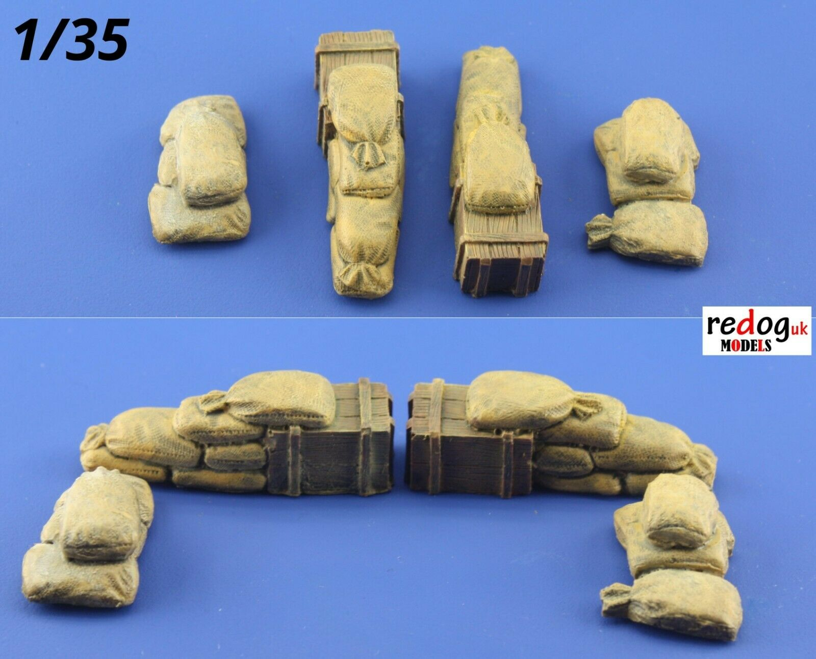 Redog 1/35 Sandbags for Trenches / Resin Scale Model Diorama Kit /3515 - redoguk