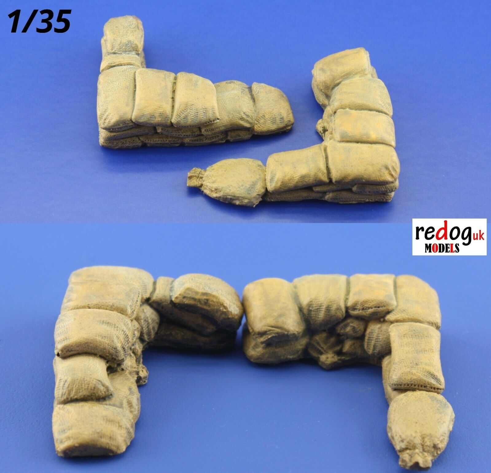 Redog 1/35 Military Sandbags for Trenches Scale Model Resin Diorama Kit 16 - redoguk