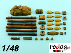 1/48 M4 Sherman Tank Military Scale Model Stowage Kit Accessories - redoguk