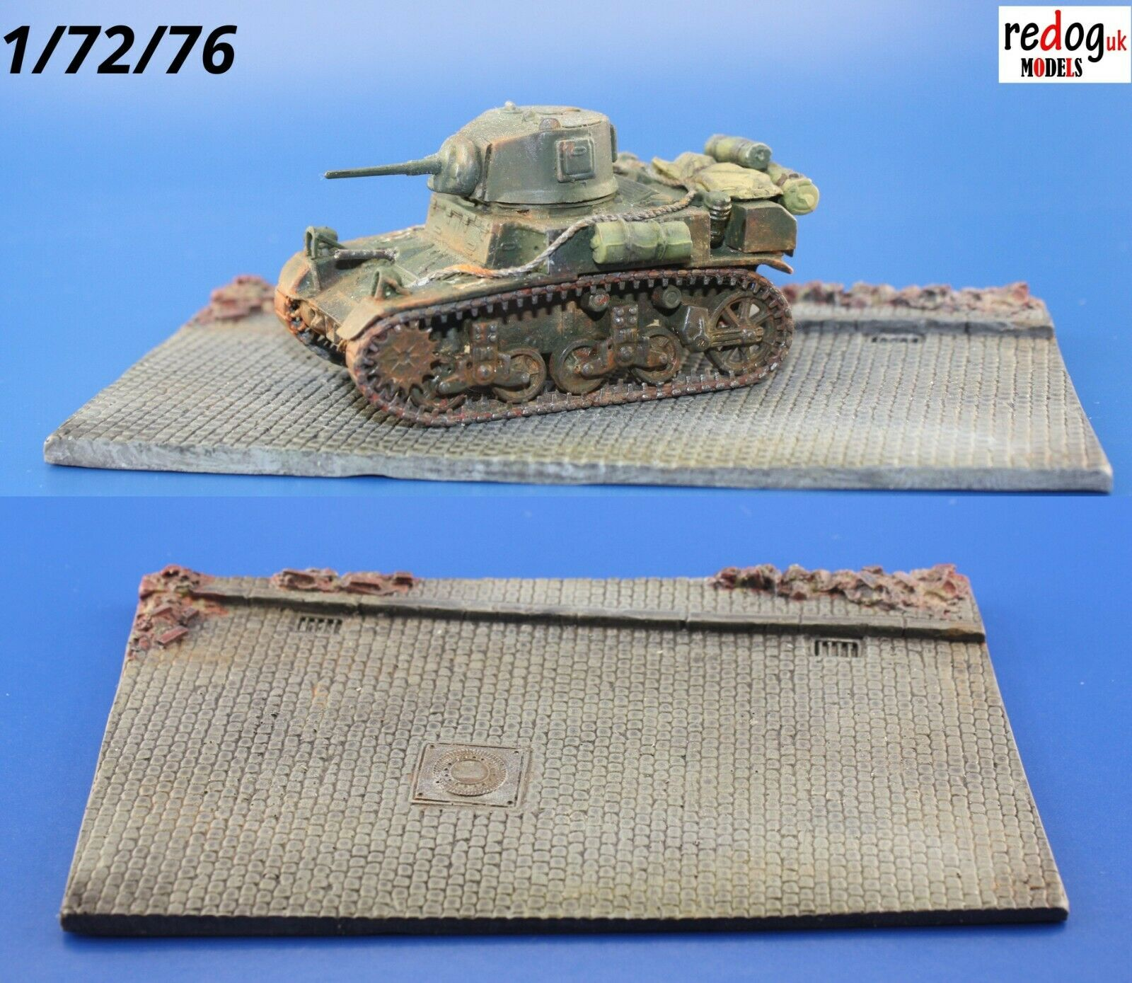 1:72  Paved Road Diorama Resin Base for Military Scale Model Vehicles D2 - redoguk