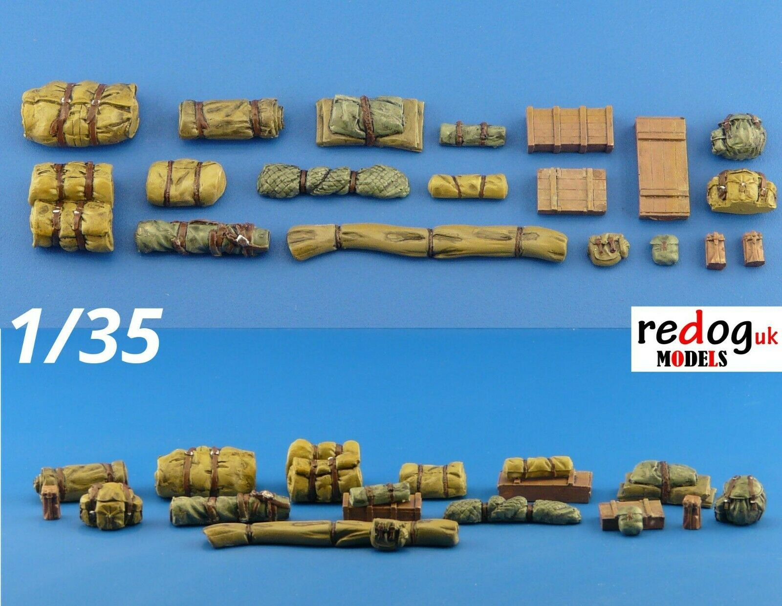 1/35 Military Scale Modelling Resin Stowage Kit Diorama Accessories Kit 4 - redoguk