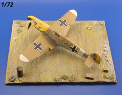 1/72 Desert Diorama Display Base For Airplane Scale Models Kits - redoguk