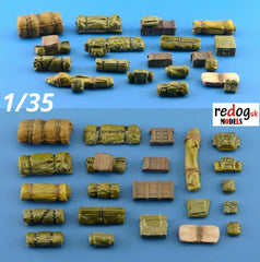 1/35  Military Scale Modelling Resin Stowage Diorama Accessories Kit 5 - redoguk