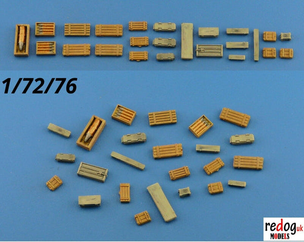 Redog 1:72 Crates and Boxes Kit Military Scale Modelling Stowage Diorama Accessorises B5 - redoguk