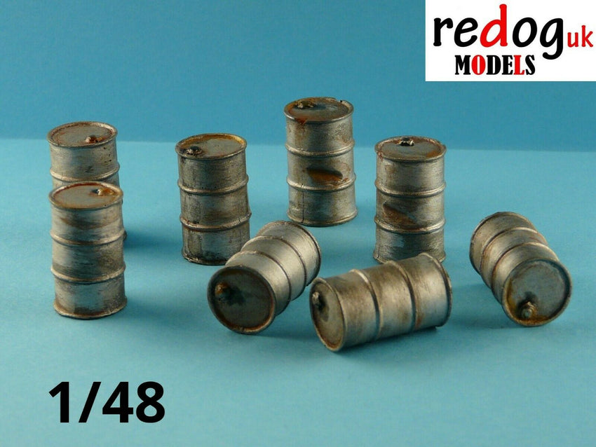 Redog 1:48 Oil and Fuel Barrels Kit Military Scale Modelling Stowage Diorama Accessorises - redoguk