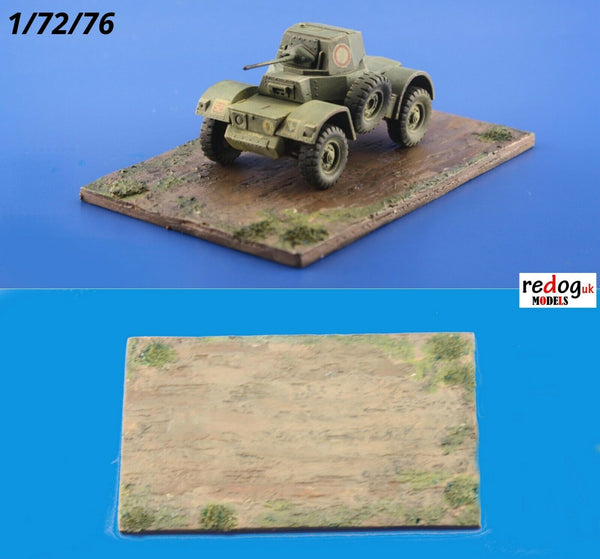 1/72 Display Base For Small Military Scale Model Vehicles / D14 - redoguk