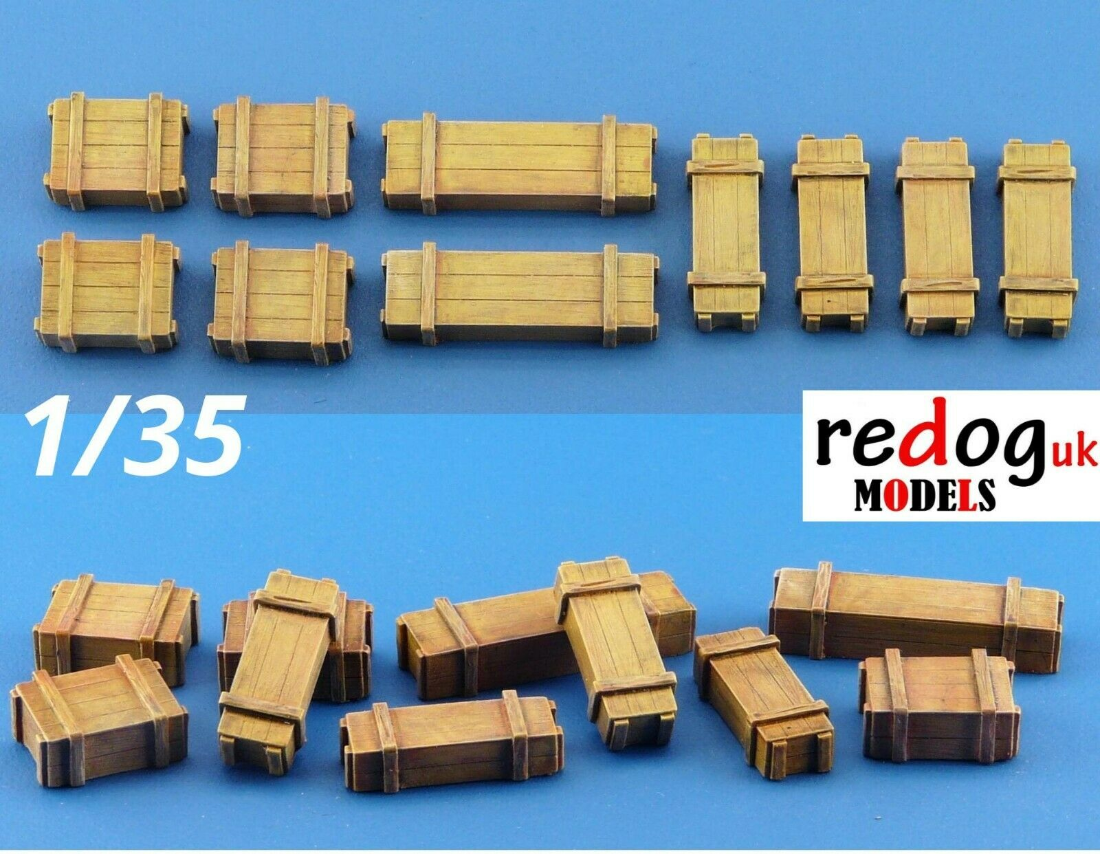 1/35 Boxes Military Scale Resin Modelling Stowage Kit Diorama Accessories 4 - redoguk