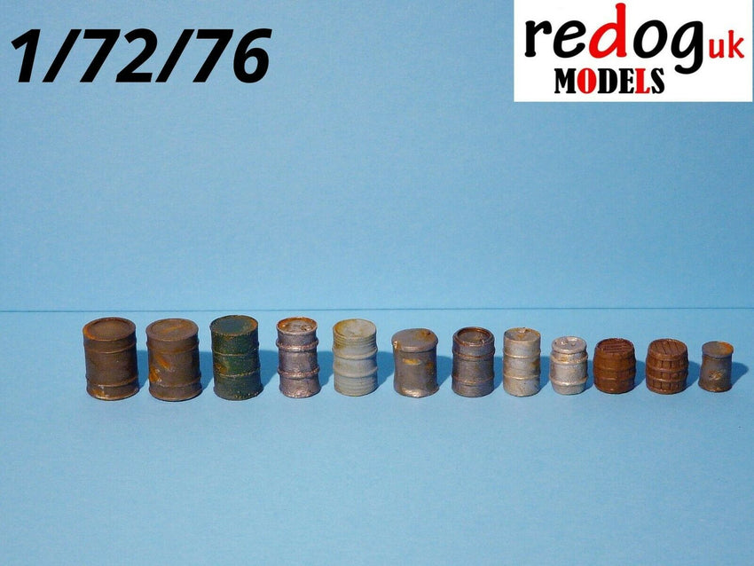 1:72 Fuel, Oil Barrels, Kegs Military Scale Modelling Resin Stowage Kit - redoguk