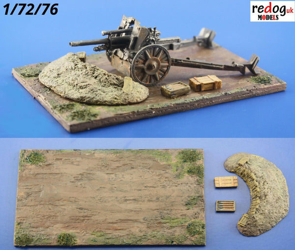 Redog 1/72 - Military Gun Emplacement - Scale Model Display Base kit/d10