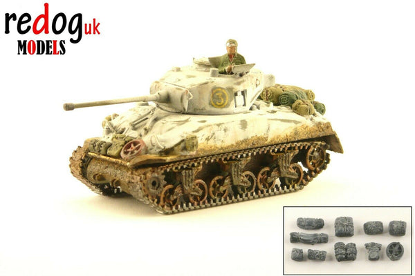 1:72 Sherman Winter Camouflage Military Scale Model Stowage Kit Accessories /S2 - redoguk