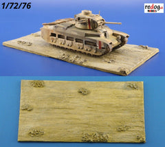 1:72  Desert Diorama Resin Display Base for Military Scale Model Vehicles D4 - redoguk