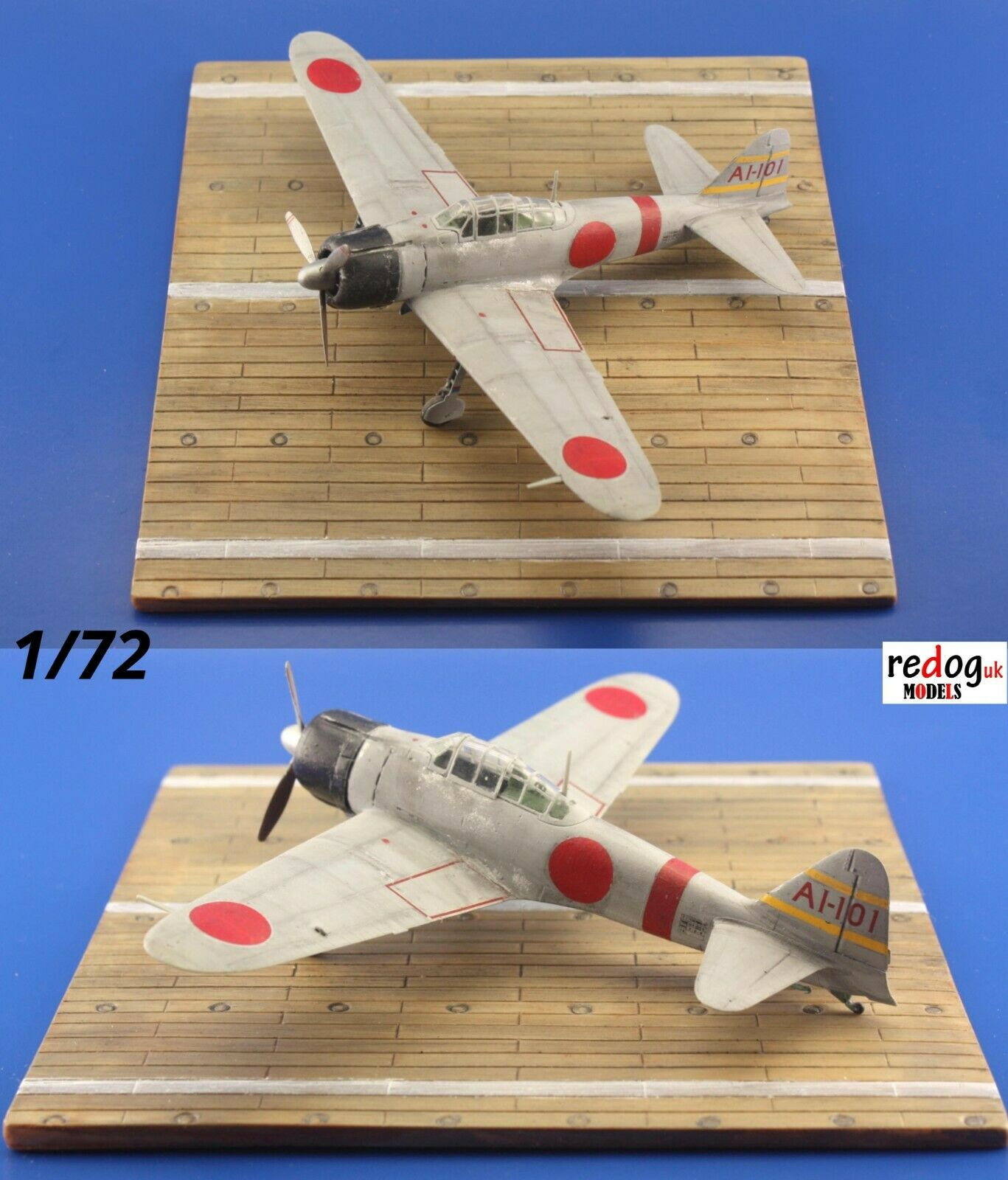 1/72 Japanese Carrier Deck Scale Model Aeroplane Display Base /D27 - redoguk