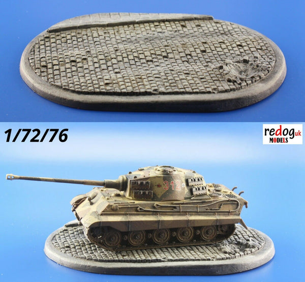 Redog 1/72 Smart Oval Diorama Display Base for Scale Model Military Vehicles  /d5