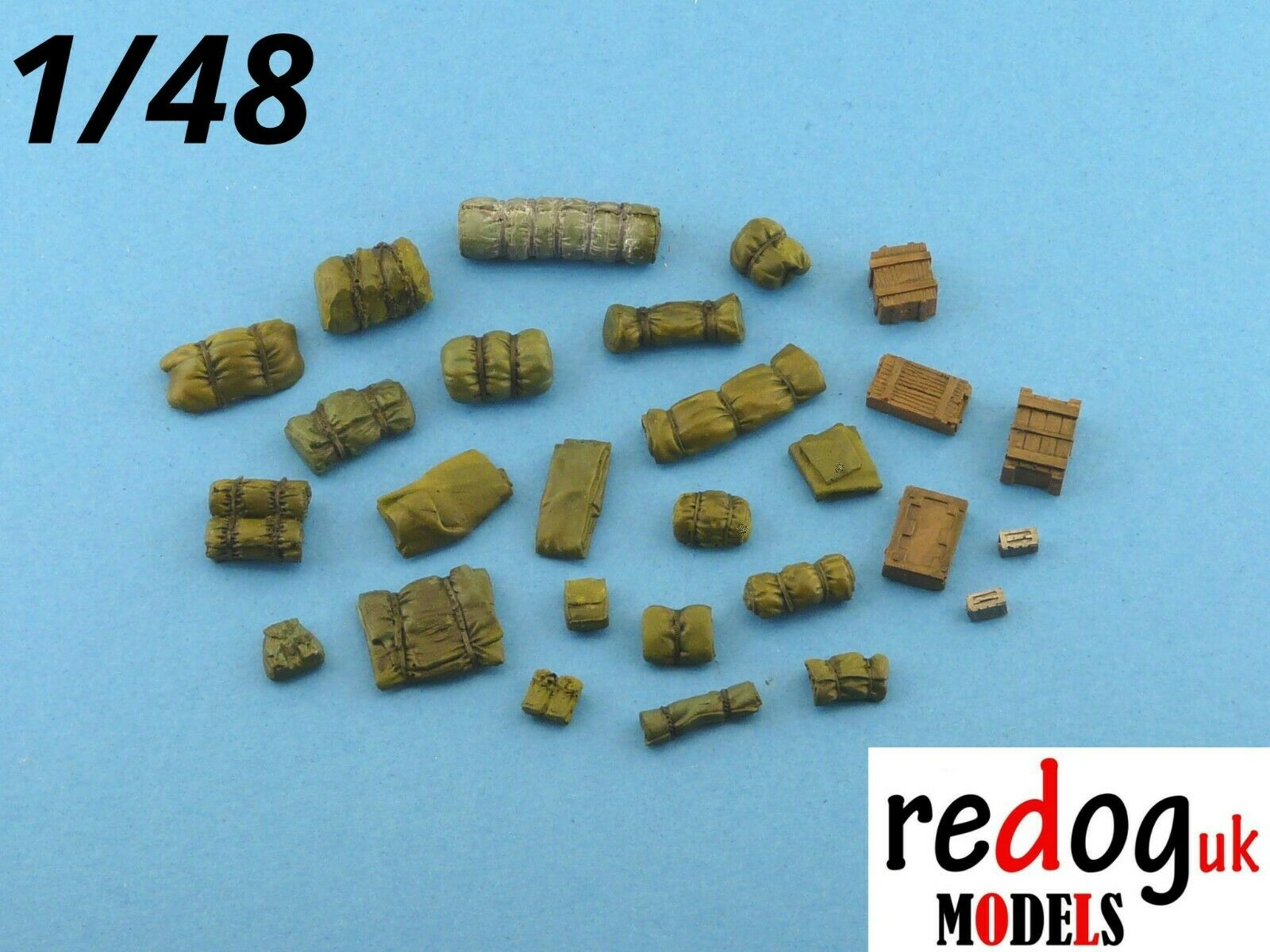 1/48  Military Scale Modelling Resin Stowage Kit Diorama Accessories Kit 1 - redoguk