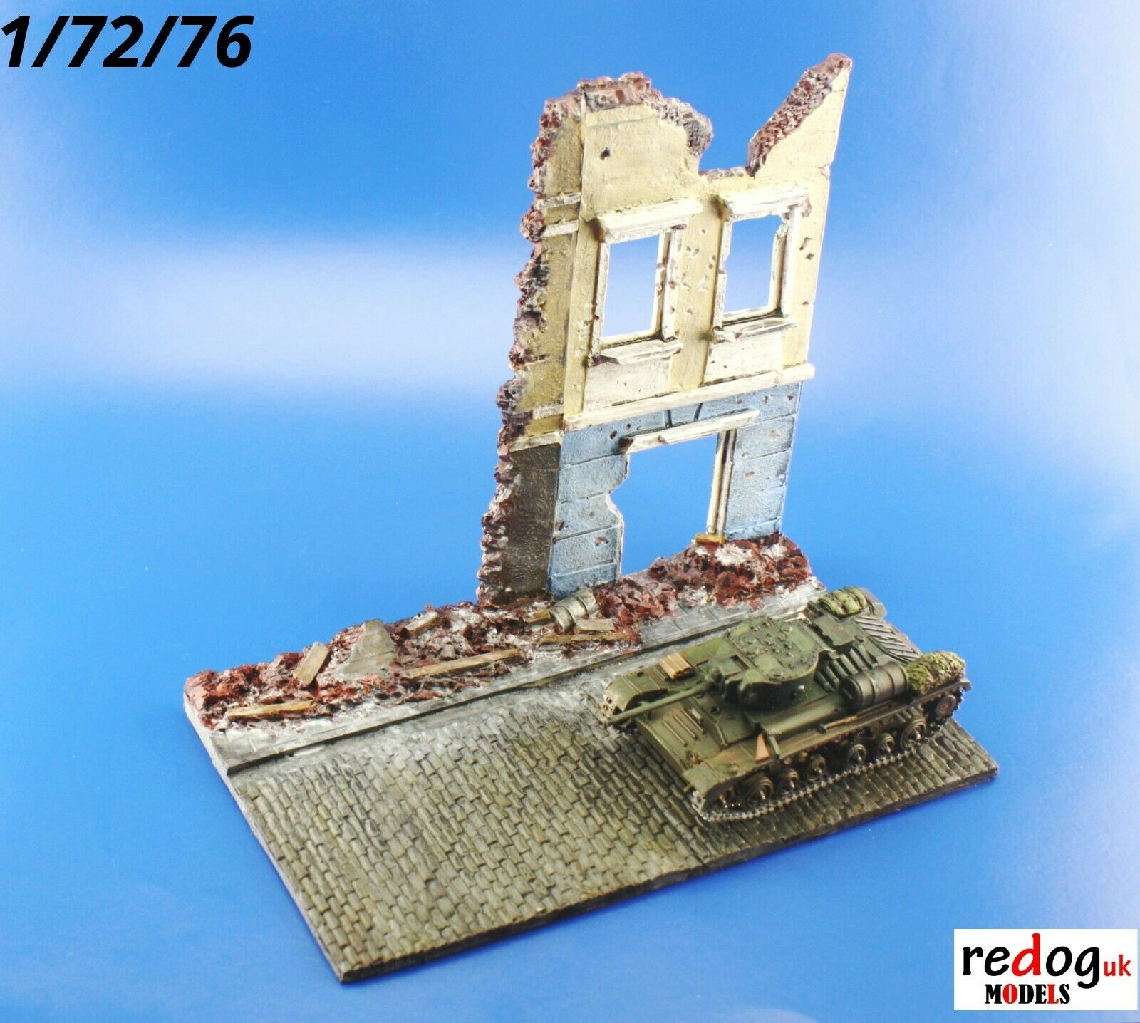 1/72 Scale Model Display Base Diorama Ruined Building /D17 - redoguk