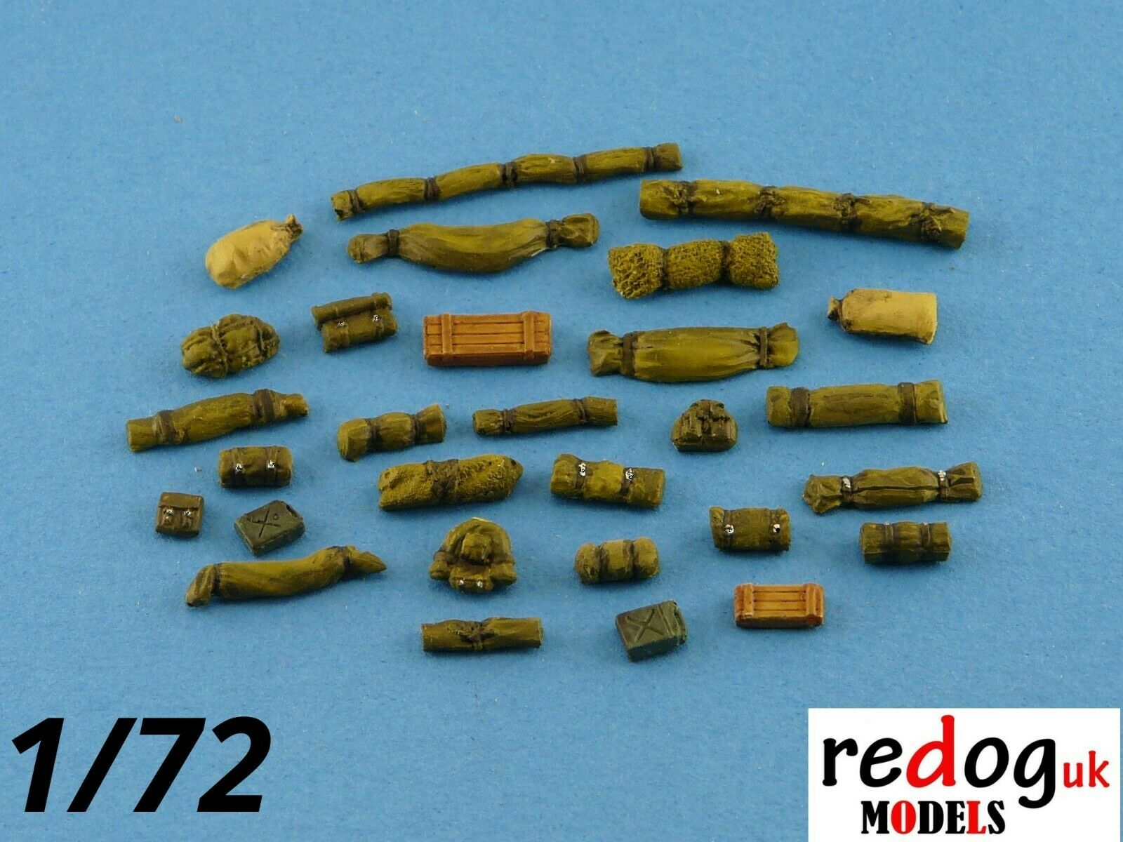1:72 Military Scale Model Stowage Diorama Accessories Kit 1 - redoguk