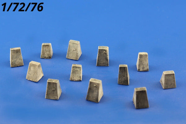 Redog 1/72/76 Anti-Tank OBSTACLES resin diorama modelling accessories kit /O2 - redoguk