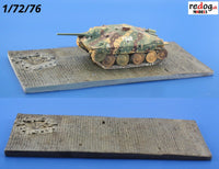 1/72 Long Diorama Display Base For Military Scale Model Vehicles D11 - redoguk