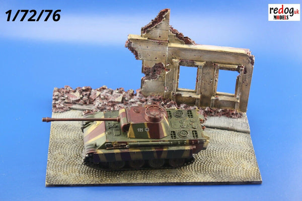 Redog 1/72 Ruins Diorama Diorama Display Base for Military Scale Model Vehicles /d8