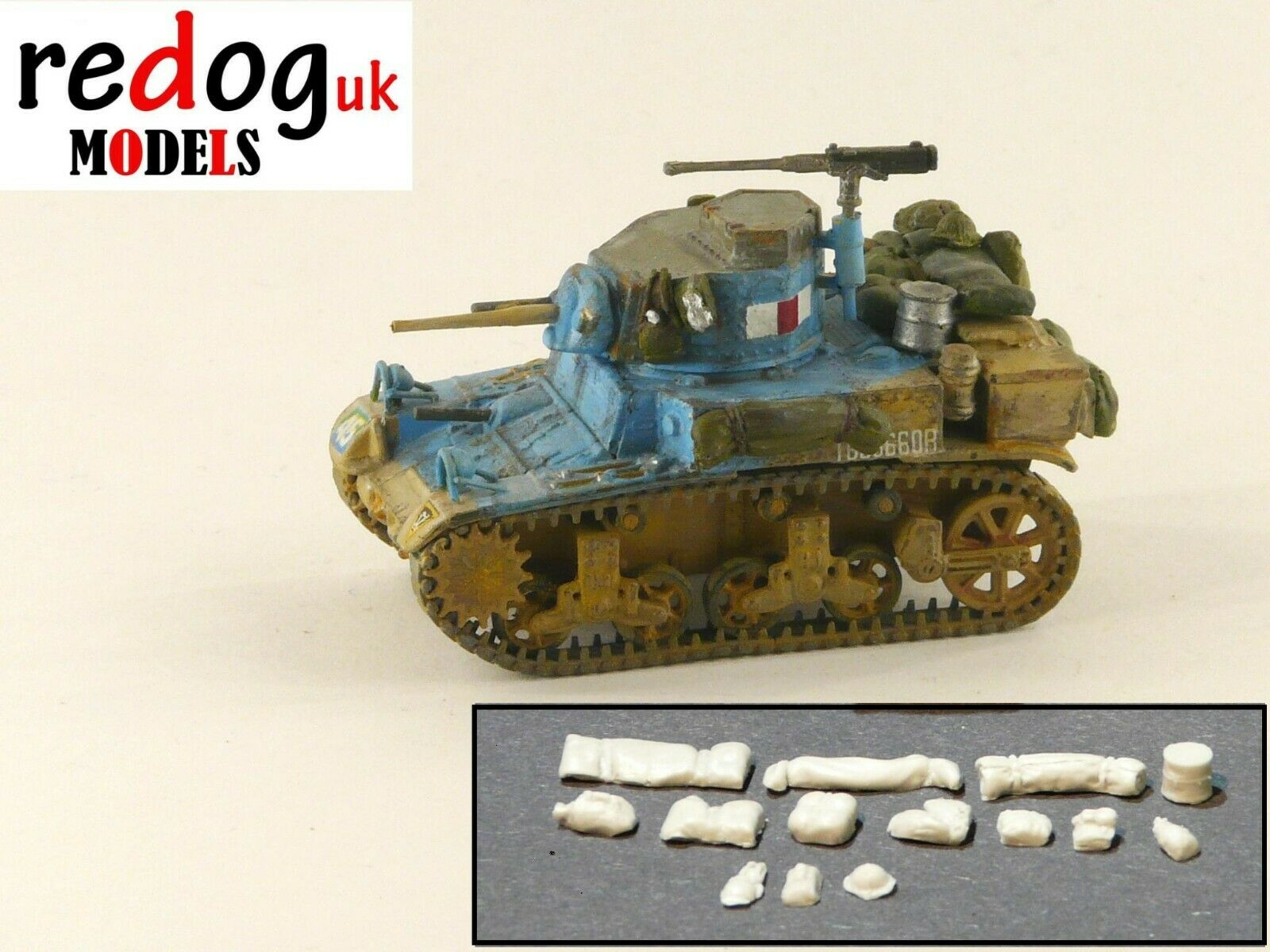 1:72 M3 Stuart Honey Tank Military Scale Model Stowage Kit Accessories - redoguk