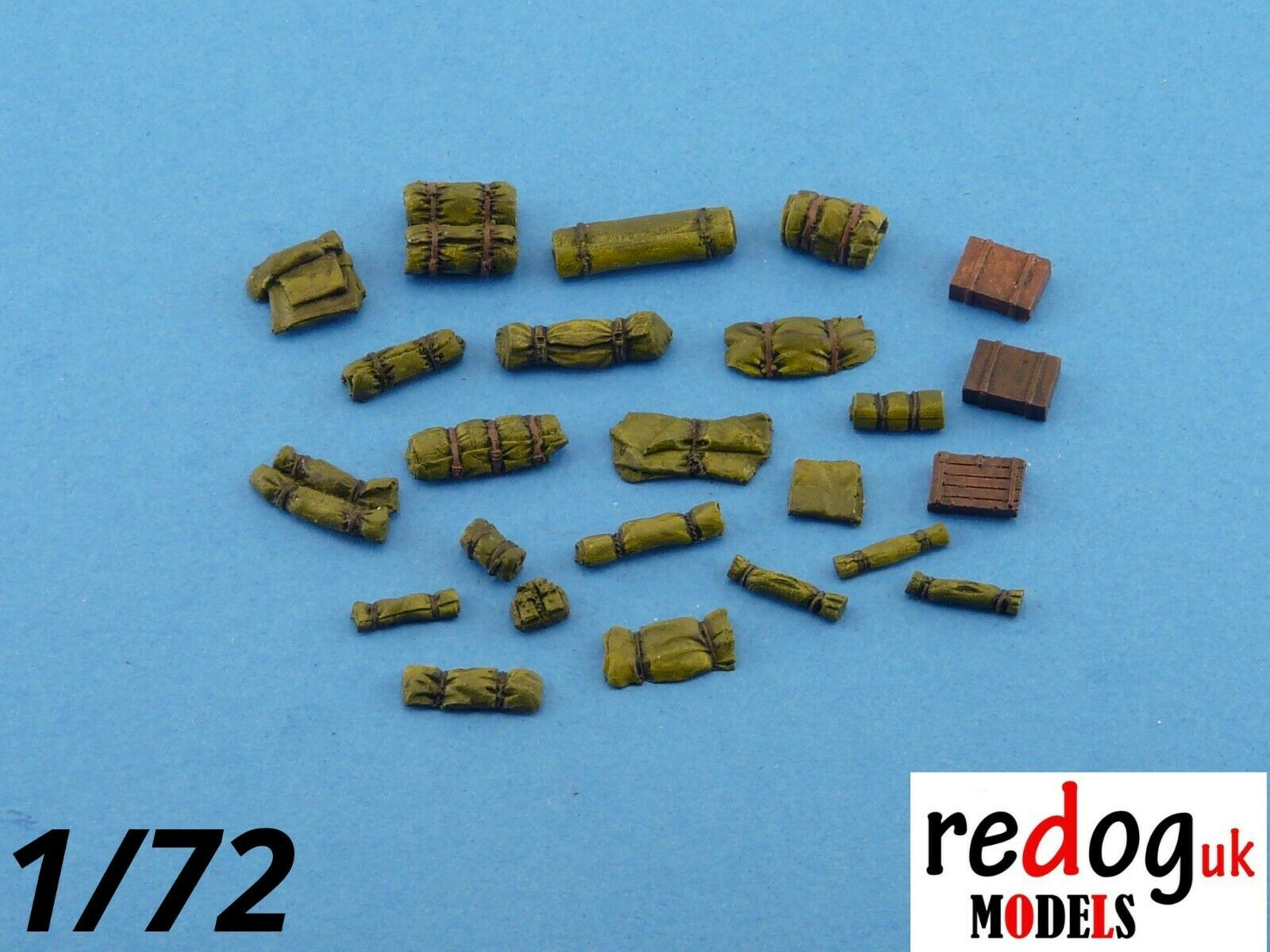 1:72 or 1:76 -  Military Scale Model Stowage Diorama Accessories Kit - redoguk