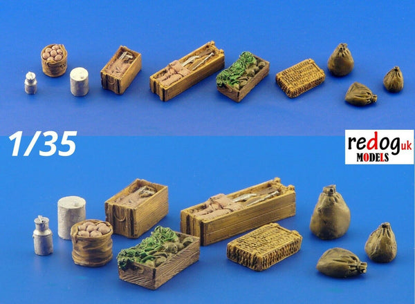 1/35 Food Supply Items Military Scale Resin Modelling Stowage Kit Detail Accessories - redoguk