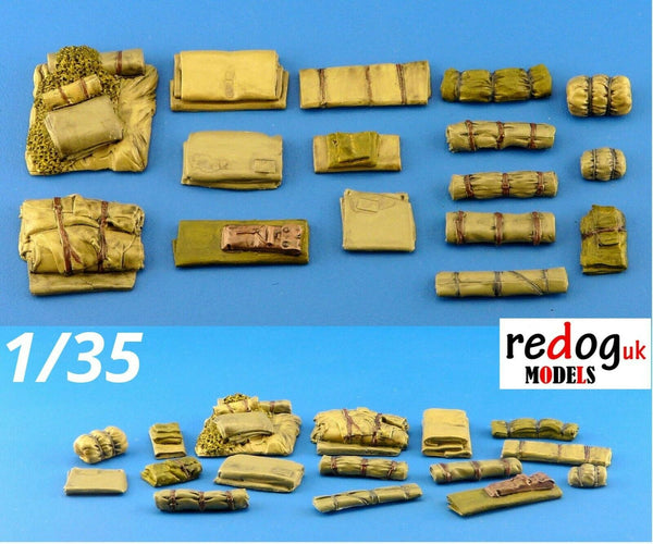 1/35 Fabrics Military Scale Modelling Resin Stowage Diorama Accessories Kit 1 - redoguk