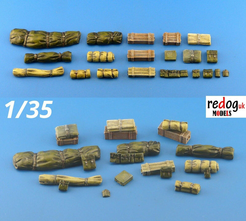 1/35 Military Scale Modelling Resin Stowage Diorama Accessories Kit 8 - redoguk