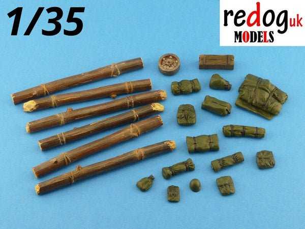 1/35 US M4 Sherman Tank Military Scale Model Stowage Kit Accessories - redoguk