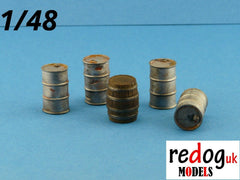 1/48 Barrels and Fuel Cans Set Cargo Military Scale Modelling Resin Stowage 3 - redoguk