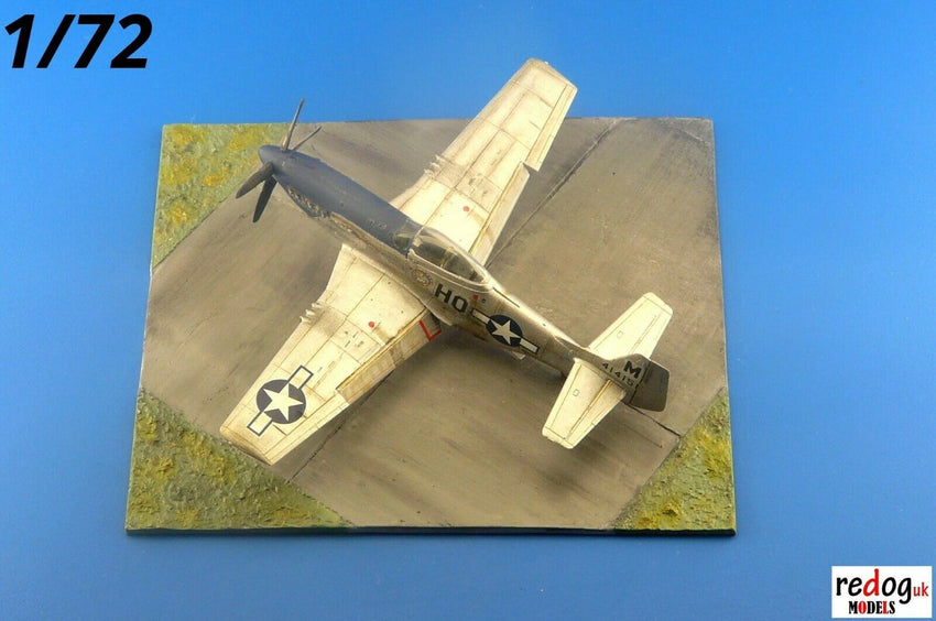 1/72 WWII Diorama Display Airfield Base For Airplane Scale Model Kits D32 - redoguk