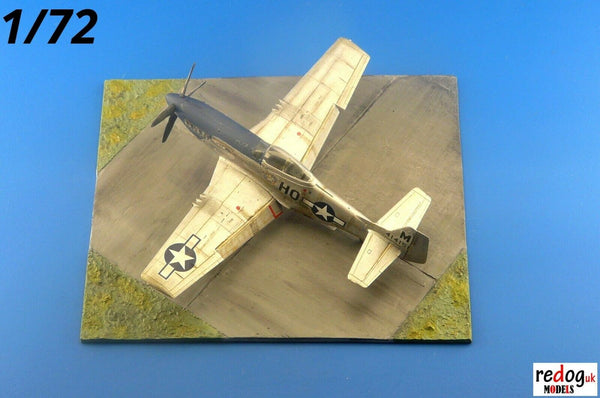 Redog 1/72 - WWII Diorama Display Airfield Base For Airplane Scale Models Kits - /d32