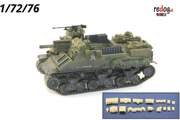 Redog 1/72 - M7 Priest US Howitzer Stowage Resin Accessories