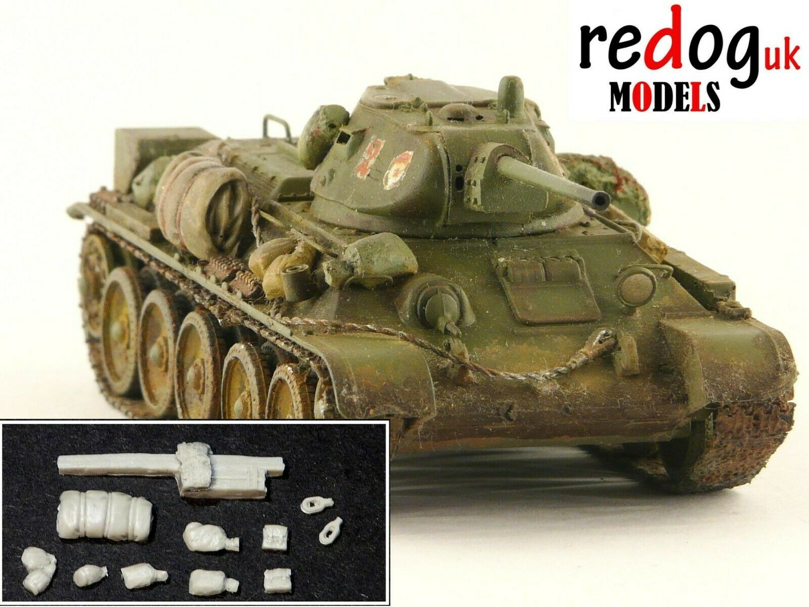 1:72 T34 Soviet Tank Military Scale Model Stowage Kit Diorama Accessories - redoguk